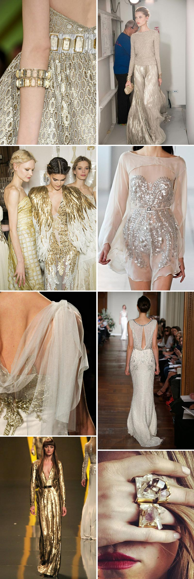 Metallic Bridal Inspiration Sartorial