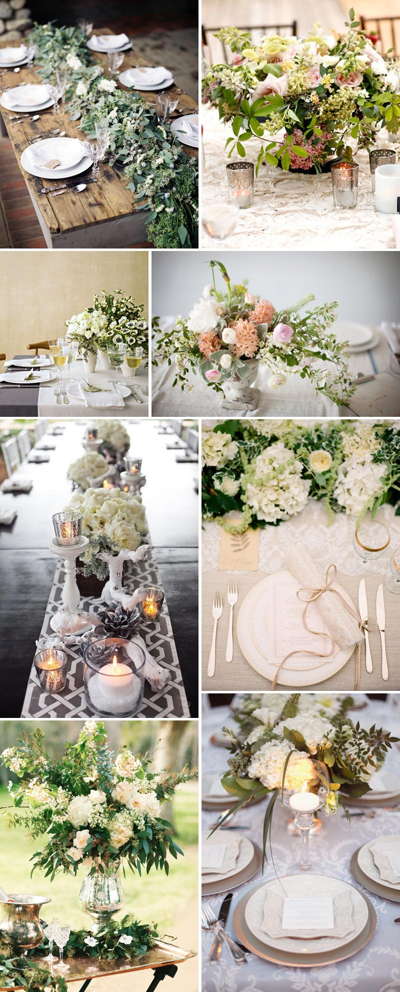 Table Centrepieces Rustic Extravagant