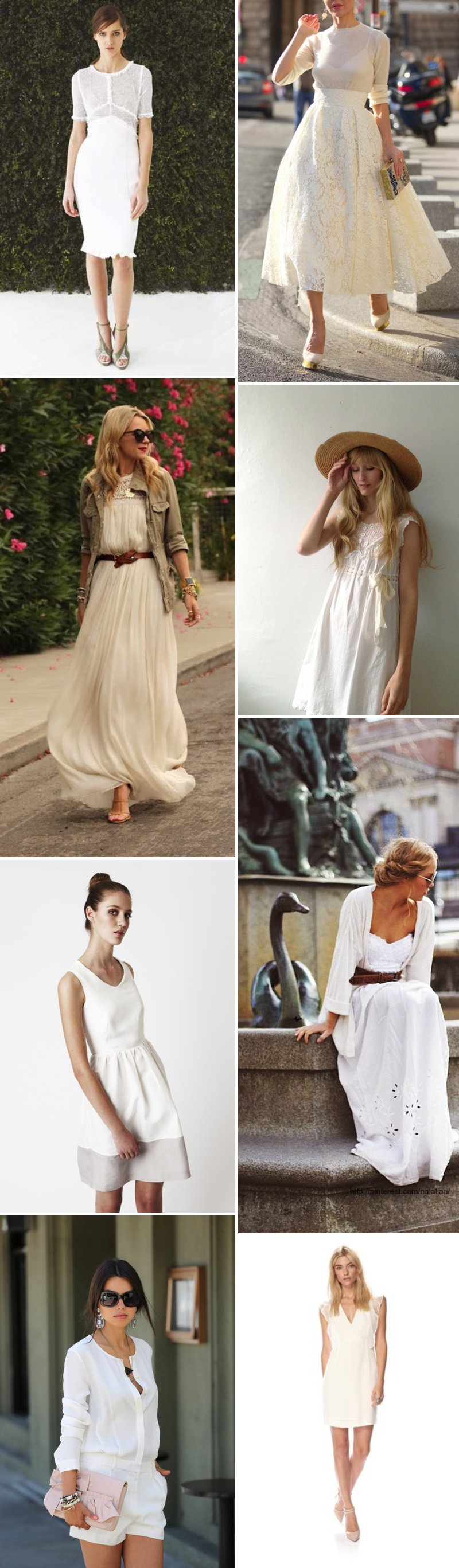 White Dresses Wedding Guests Sartorial Choices Inspiration