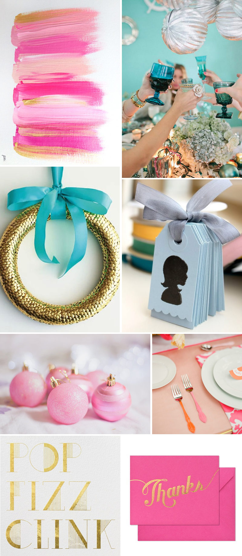 Bright And Beautiful Wedding Inspiration Decor Pink Turquoise