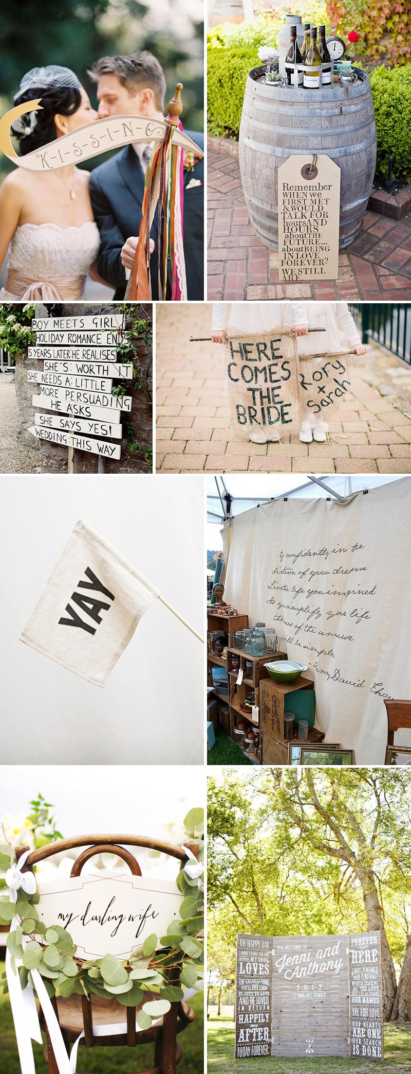 For-Every-Occasion Wedding Sign Pennant Wedding Backdrop Ceremony Flowergirl Sign Chairback Inspiration