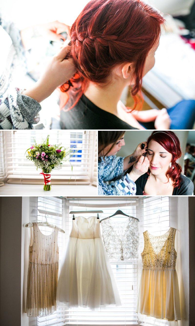 Redhead bride Coast Bridal Gown Wedding Dress