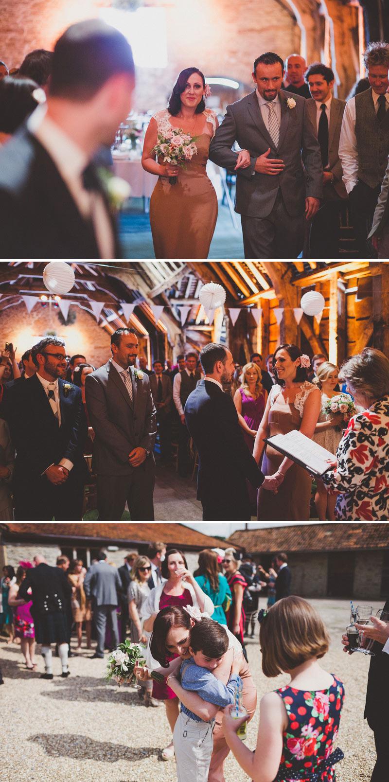 Abigail Warner Black And White Glittery Metallic Wedding Invite Stationery