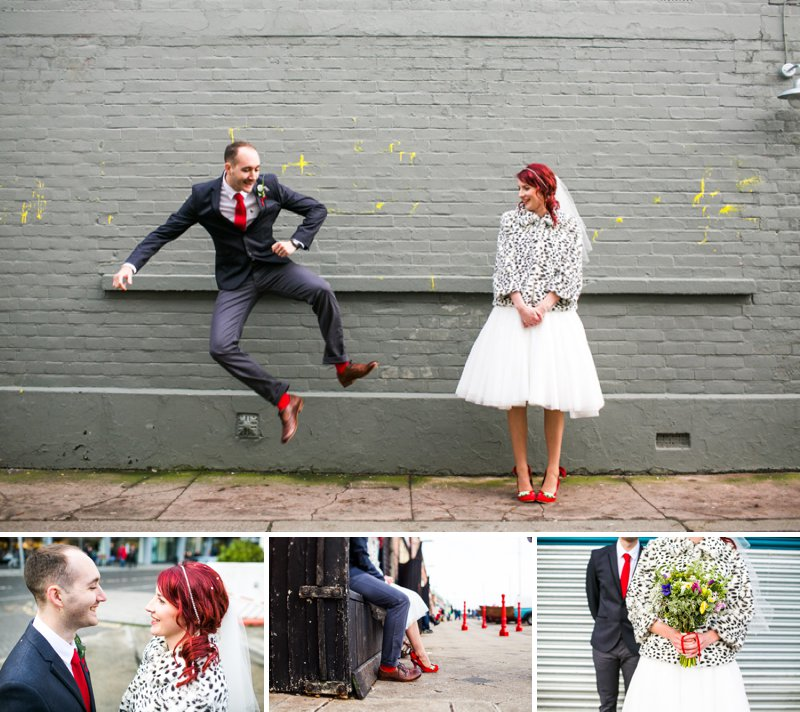 Short Coast Vintage Style Wedding Dress Red Accessories