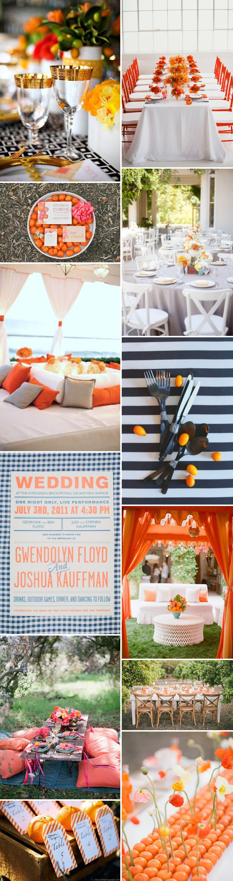 Orange Wedding Decor Inspiration