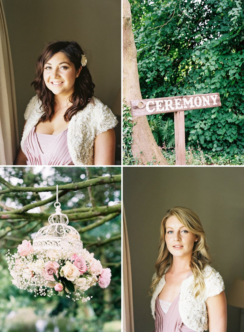 Preston Court Wedding Signage Birdcage Florals