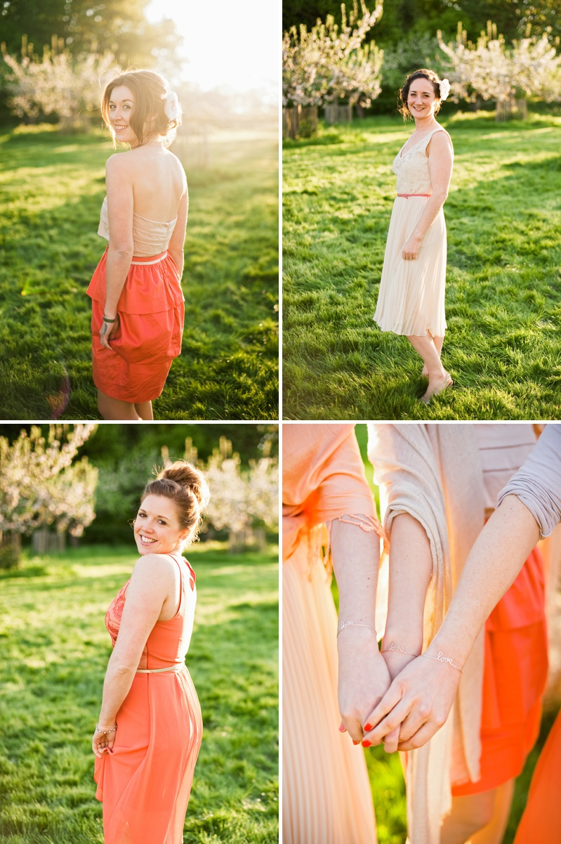 Mismatched Bridesmaids Coral Peach Pink Blush