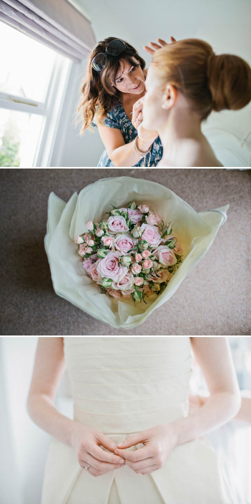 Ailsa Floral Design Wedding Florist Pink Roses And Hydrangea Bouquet