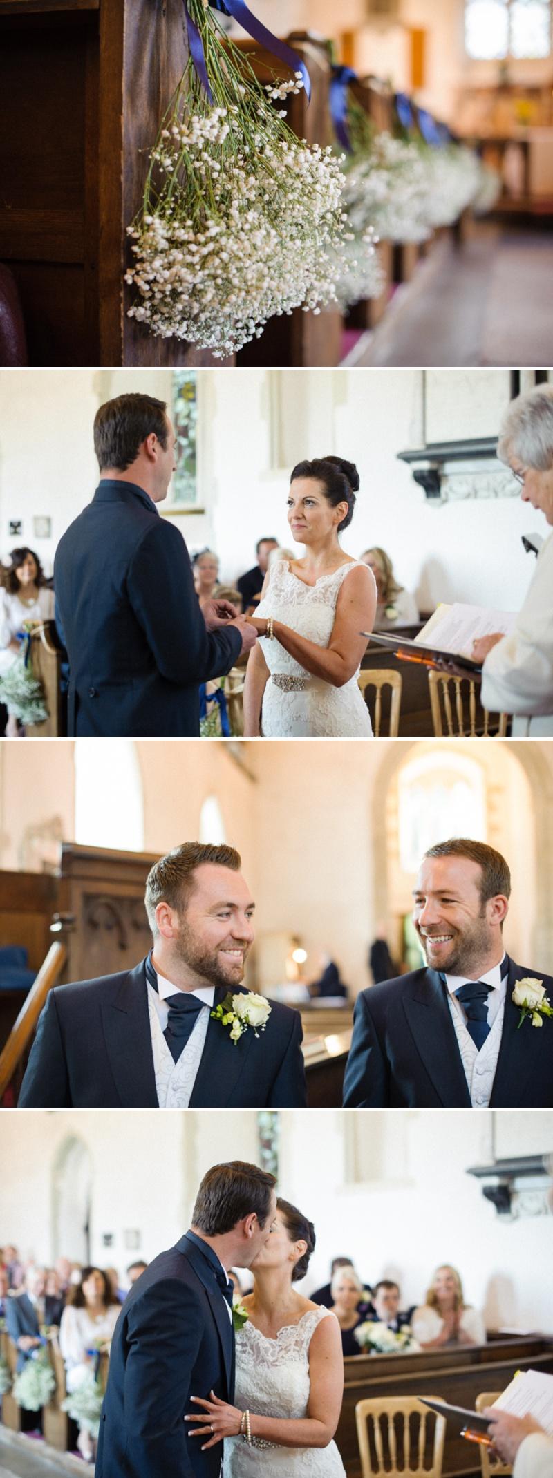 Gypsophila Wedding Flowers Pew Ends Justin Alexander Wedding Dress