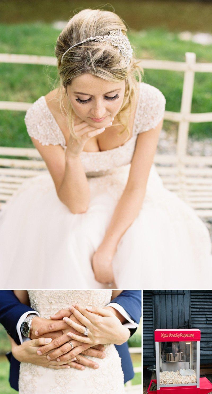 Romantic Elegant Maggie Sottero Wedding Dress Jenny Packham Bridal Headpiece