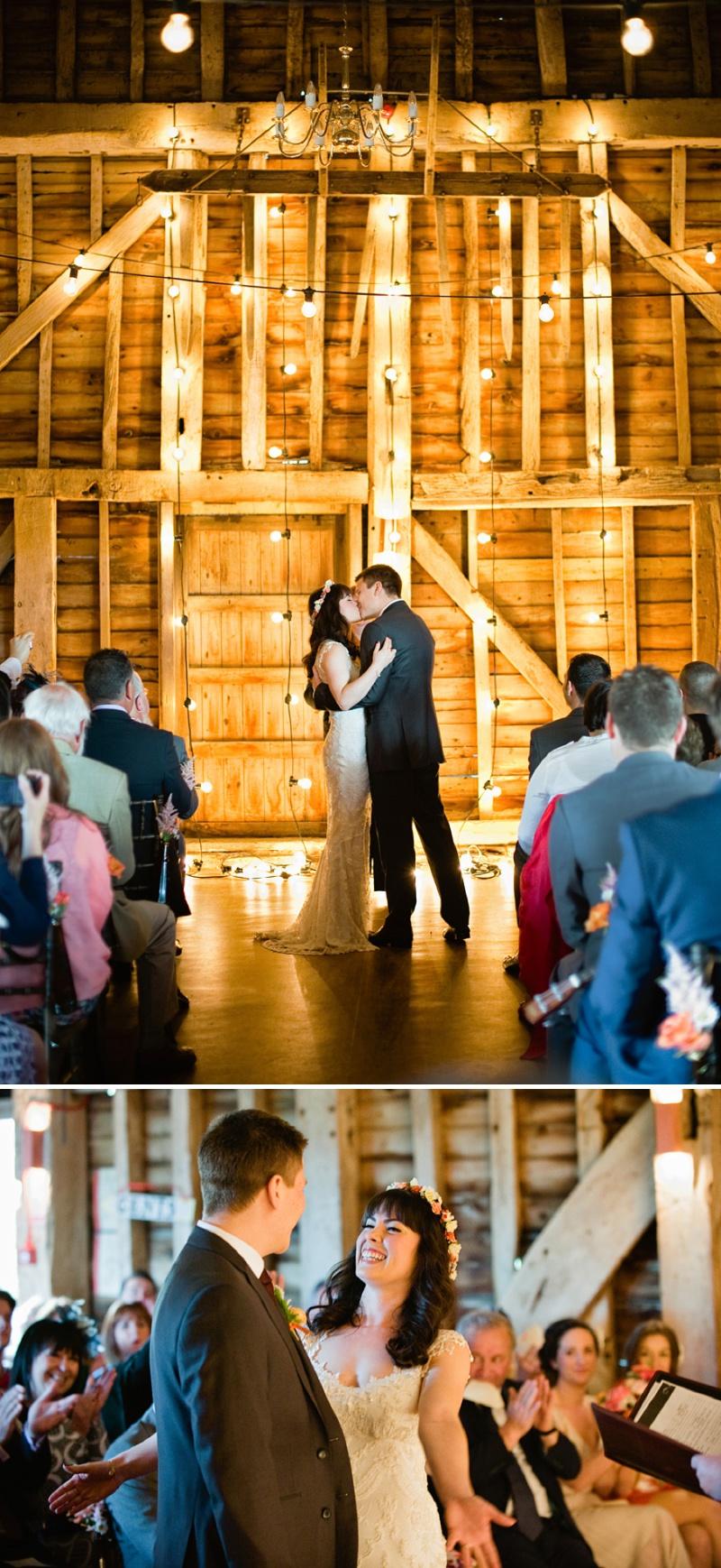 The Great Barn Wedding Venue Kent Dry Hire Festoon Lighting