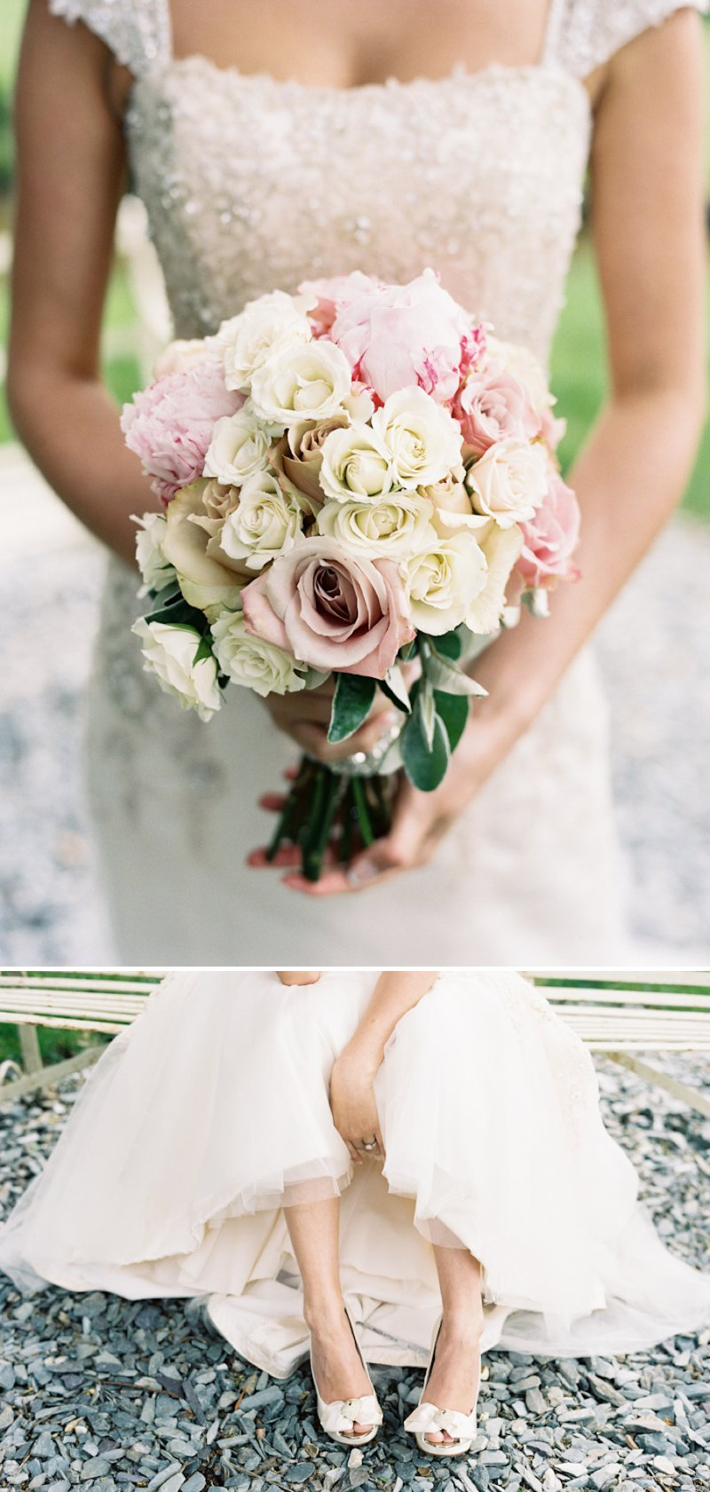 Darling and Wild Wedding Florist Dusky Pink Cream Rose Bridal Bouquet