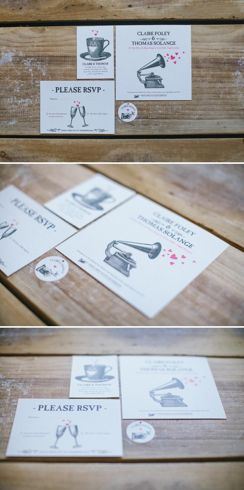 Pepper & Joy Gramophone Inspired Wedding Stationery