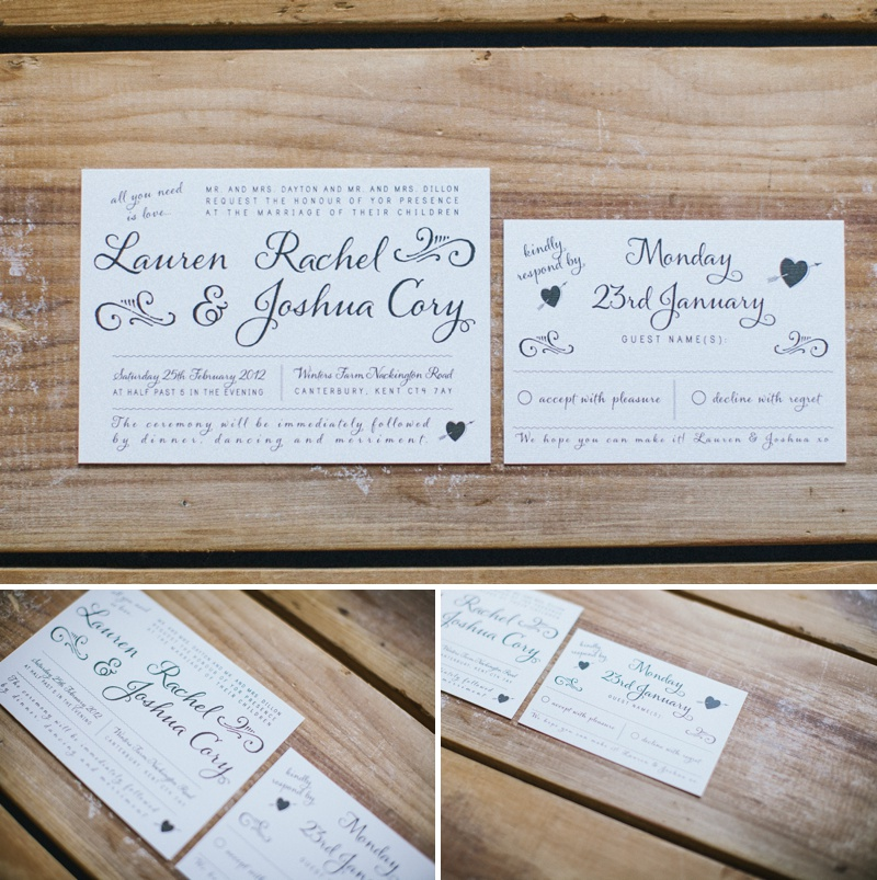 Amelia Lane Paper Bespoke Wedding Stationery Invitations