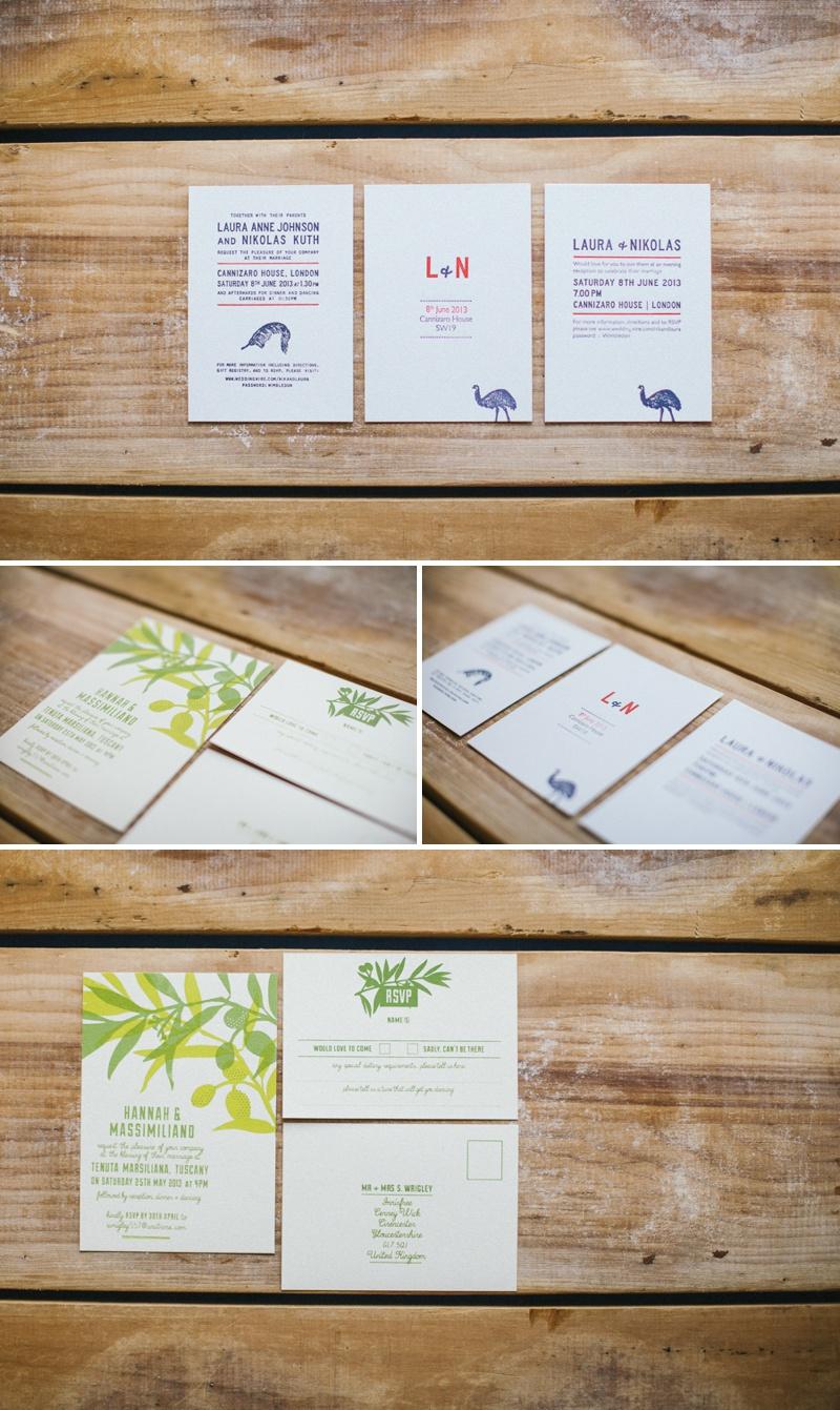 Pirrip Press Bespoke Wedding Invitations Stationery