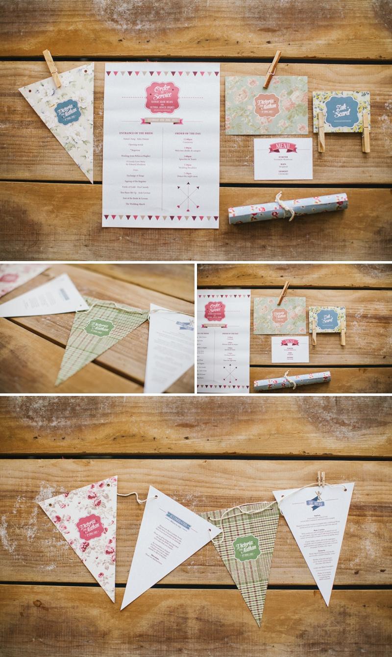 Weddings Vintage Stationery Design Vintage Bunting