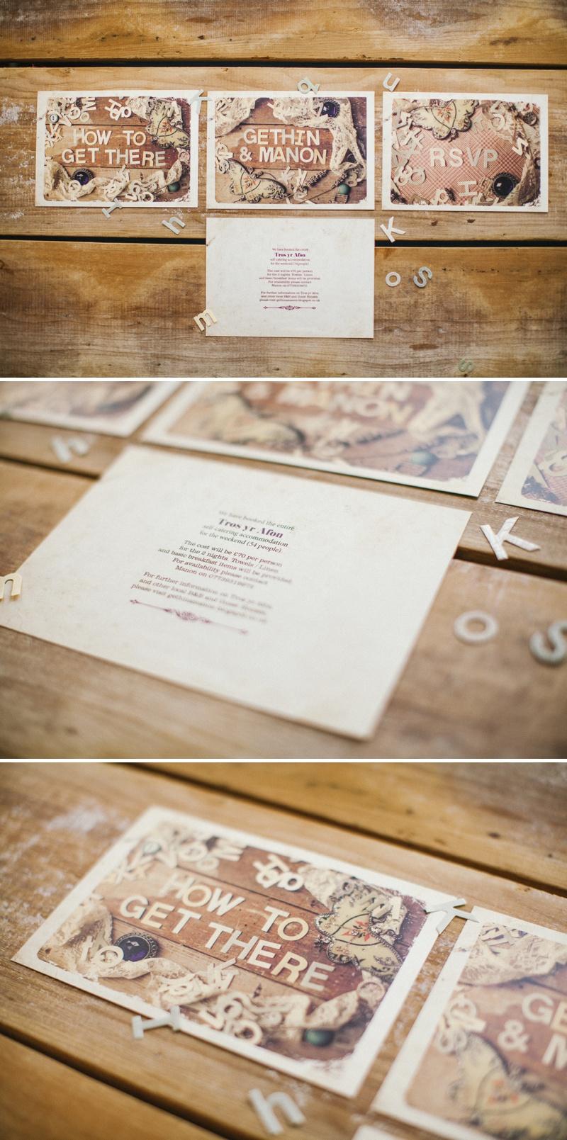 Weddings Vintage Bespoke Wedding Invitations