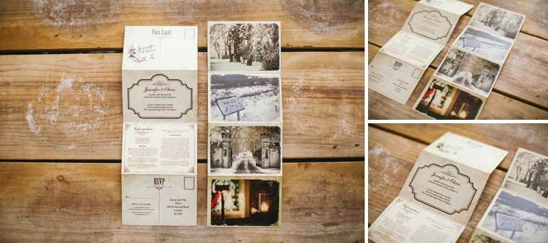 Weddings Vintage Postcard Inspired Wedding Stationery Bespoke