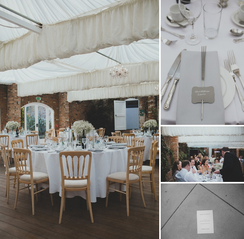 Modern Wedding Decor Grey Silver Colour Scheme