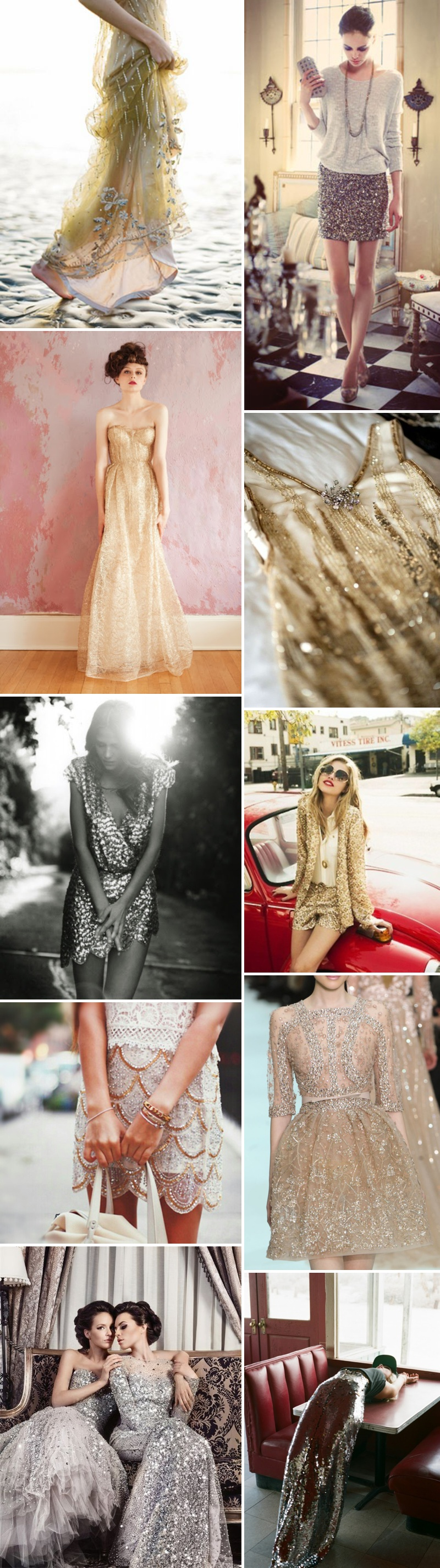 Golden Inspired Wedding Fashion