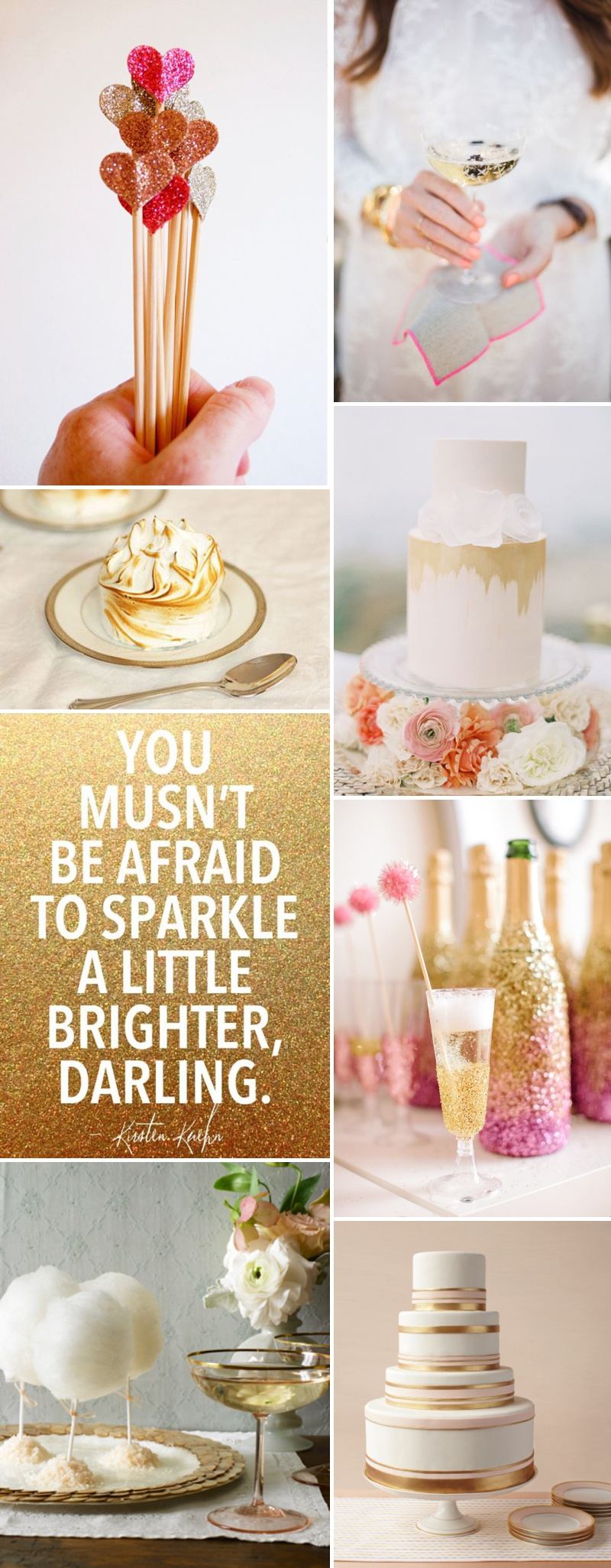 Golden Wedding Inspiration Decor