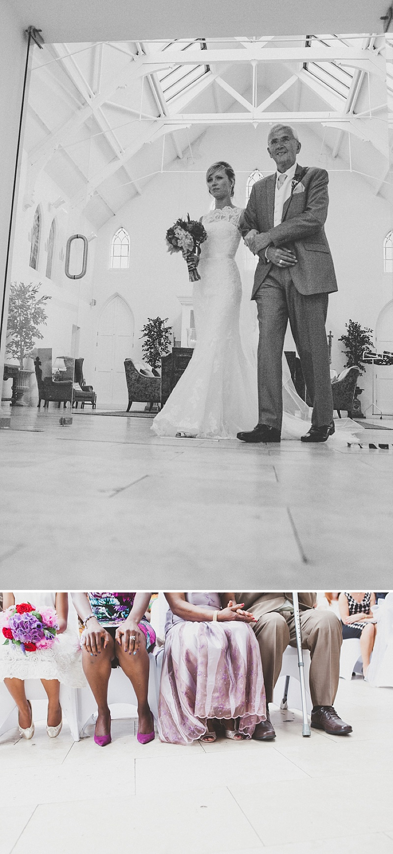 A Colourful Contemporary Wedding At Fazeley Studios, Digbeth, Bride in Justin Alexander Gown, Photography by Jordanna Marston_0007