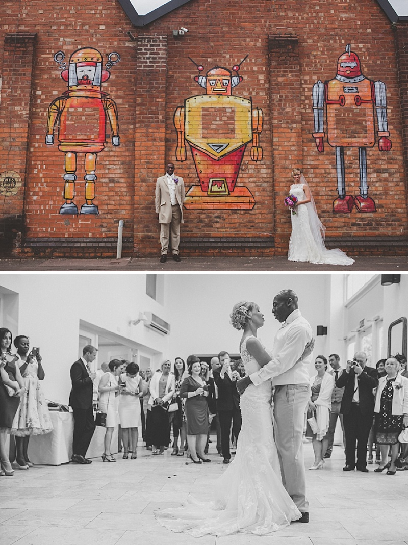 A Colourful Contemporary Wedding At Fazeley Studios, Digbeth, Bride in Justin Alexander Gown, Photography by Jordanna Marston_0014