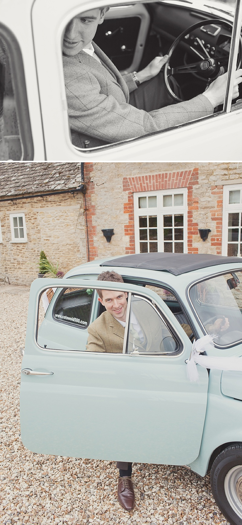A Countryside Fair Themed Wedding at The Trout Inn Oxfordshire, Images by Cotton Candy Photography. Bride in Vintage Gown from Charlie Brear, Groom In Tweed suit and flat cap_0008