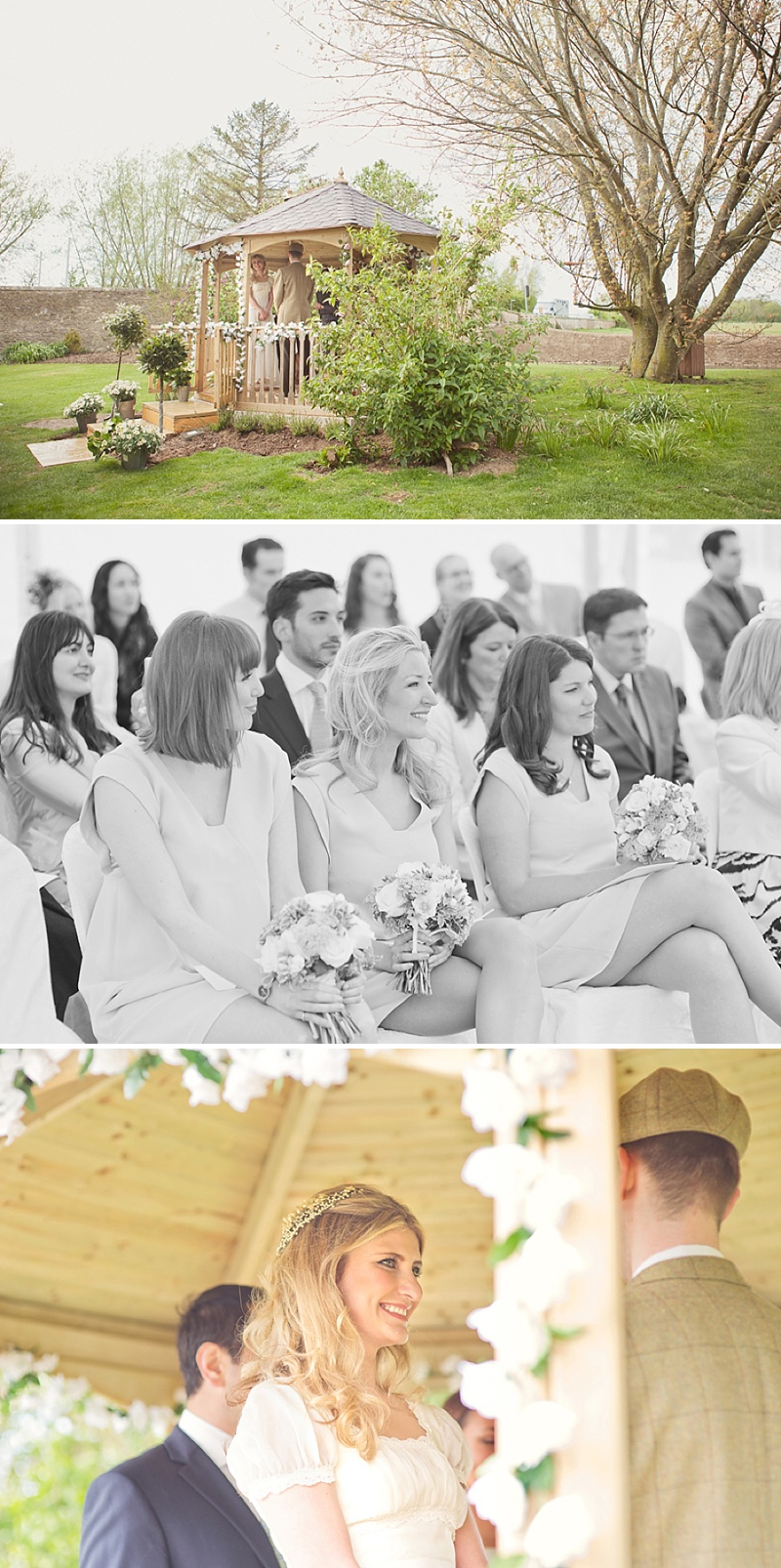 A Countryside Fair Themed Wedding at The Trout Inn Oxfordshire, Images by Cotton Candy Photography. Bride in Vintage Gown from Charlie Brear, Groom In Tweed suit and flat cap_0009