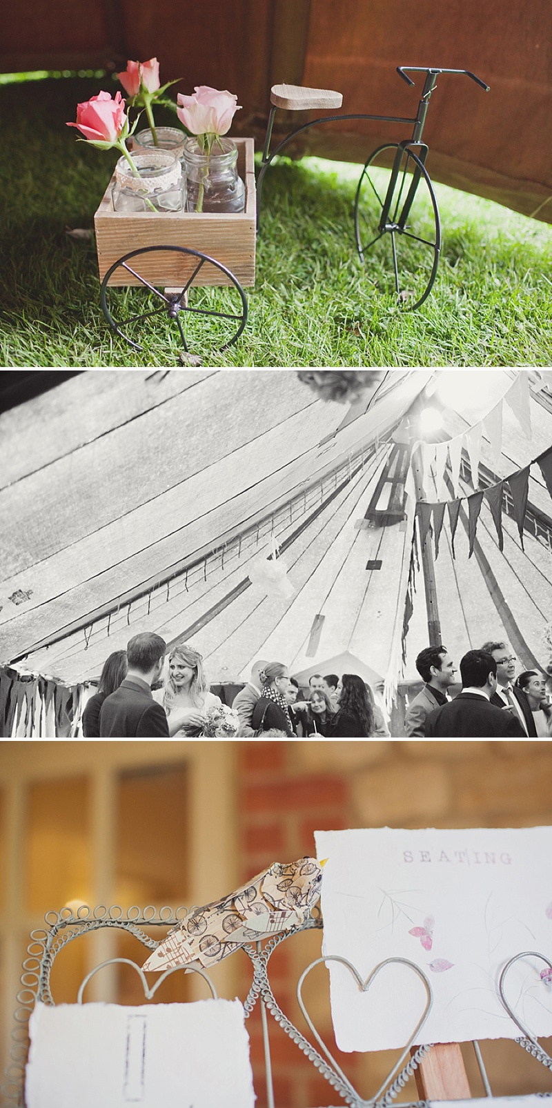 A Countryside Fair Themed Wedding at The Trout Inn Oxfordshire, Images by Cotton Candy Photography. Bride in Vintage Gown from Charlie Brear, Groom In Tweed suit and flat cap_0012