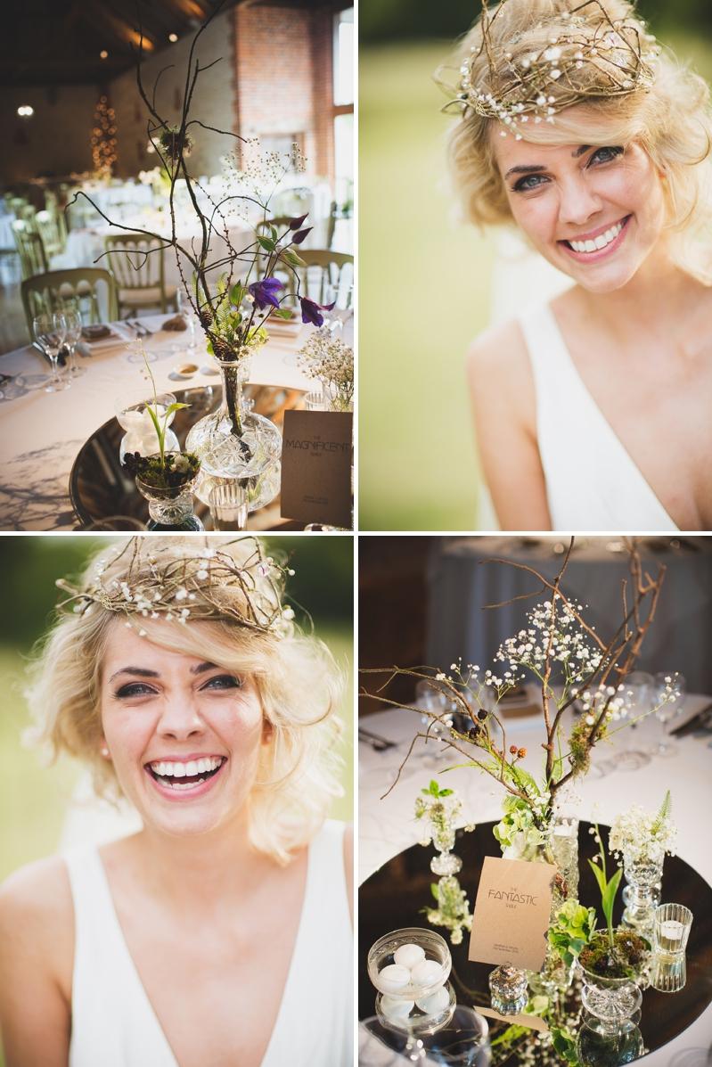Beautiful bridal wedding hair ideas for short hair brides