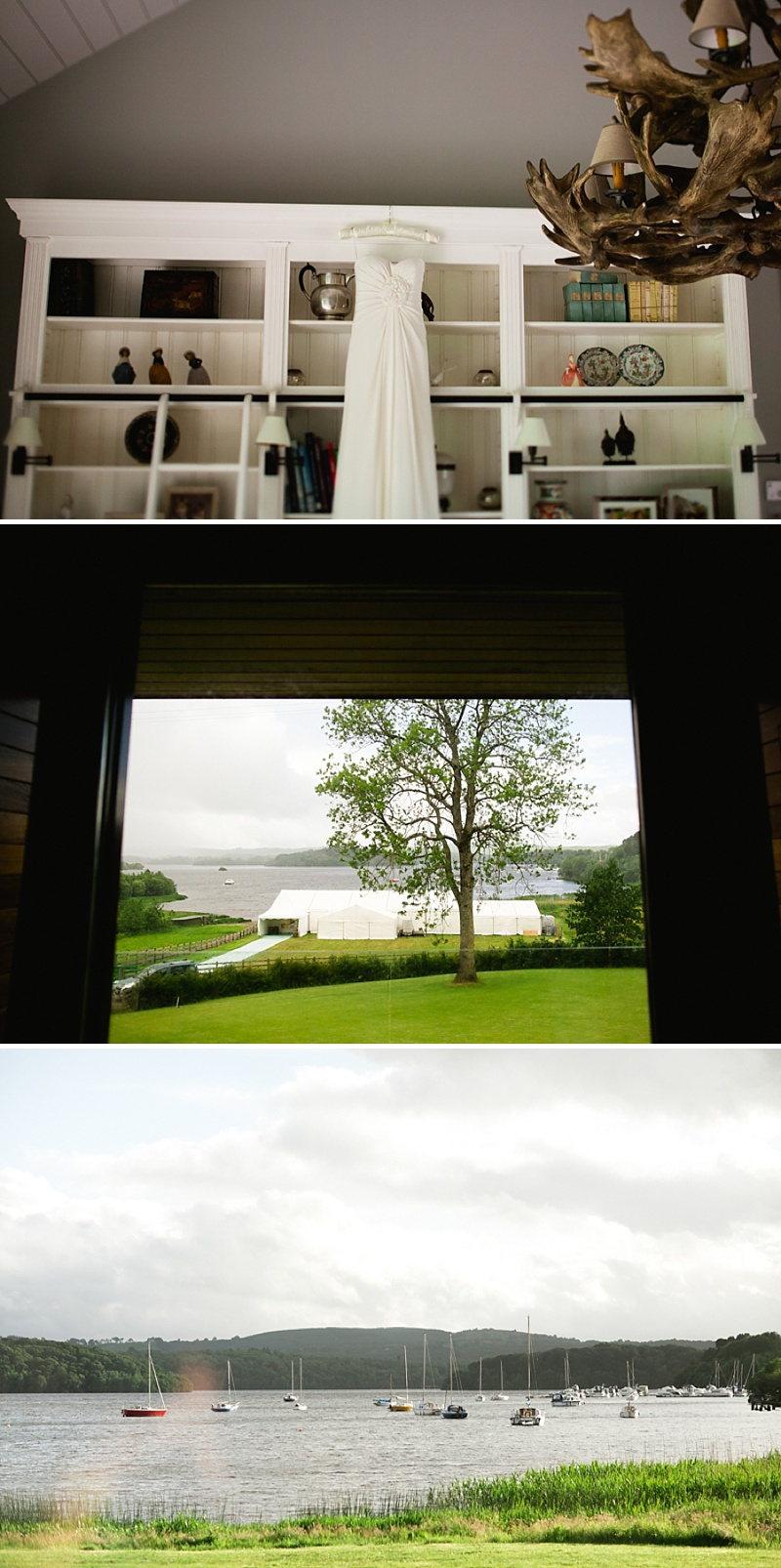 A Marquee Wedding By The Lake In Co. Fermanagh, Northern Ireland, Bride In Phillipa Lepley Gown and Veil, Photography by Blackbox Photography_0001
