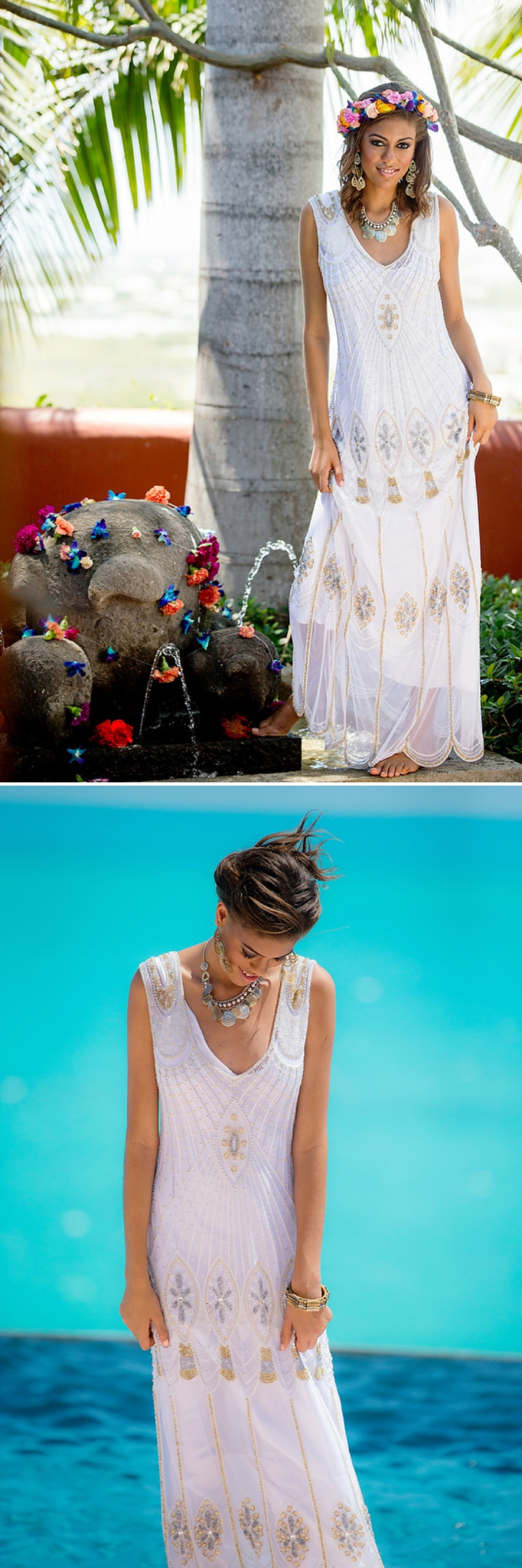 A bohemian beach destination wedding inspiration shoot in Turks & Caicosby Brilliant Studios_0070