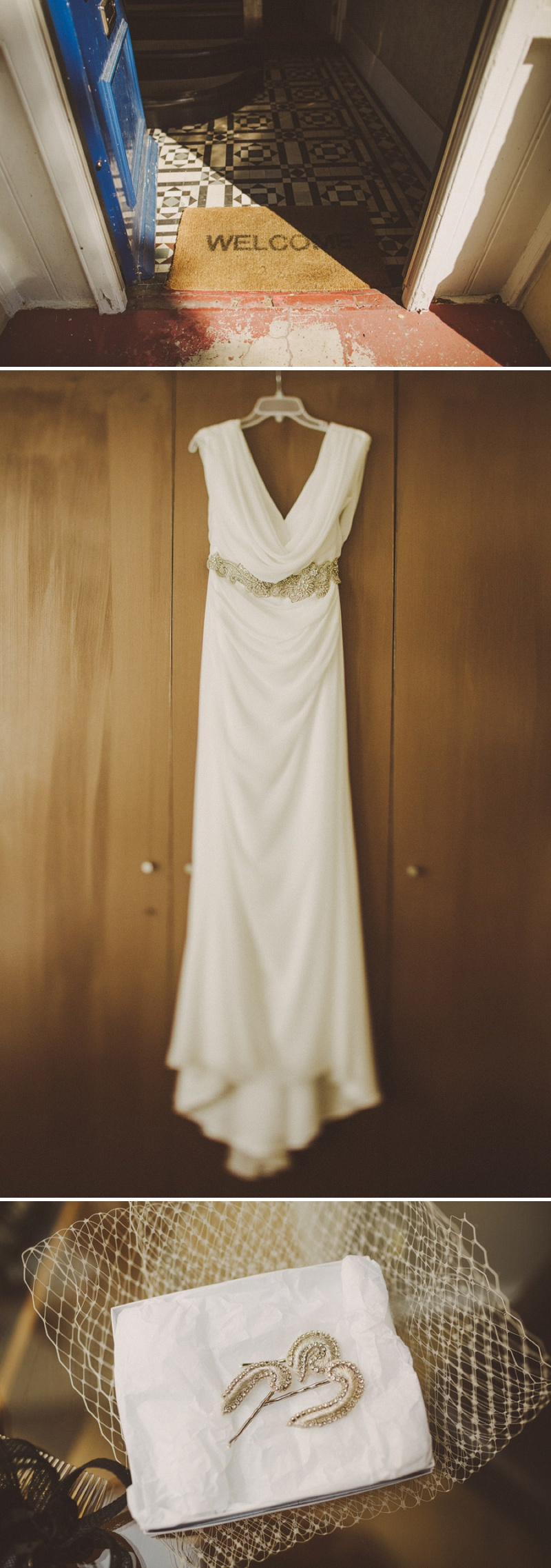 A hip city wedding held at an power station art gallery in East London with a Cymbeline 1930s inspired dress and a white rose bouquet with photography by Ed Peers._0002