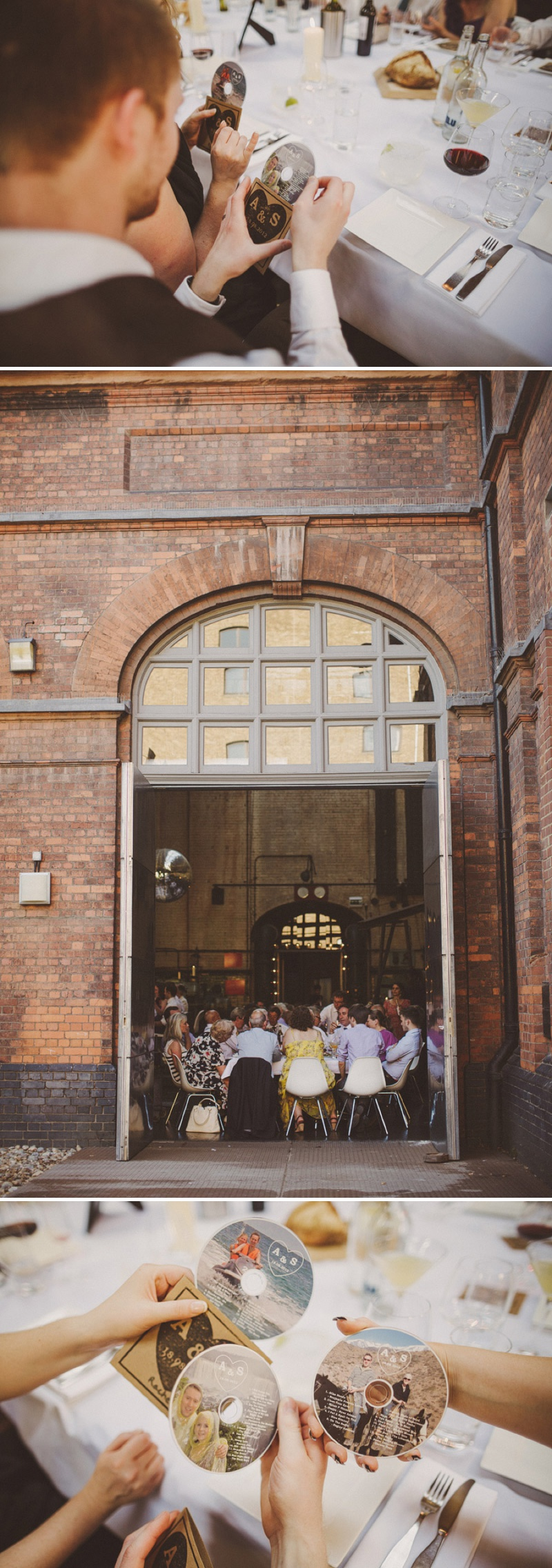 A hip city wedding held at an power station art gallery in East London with a Cymbeline 1930s inspired dress and a white rose bouquet with photography by Ed Peers._0013