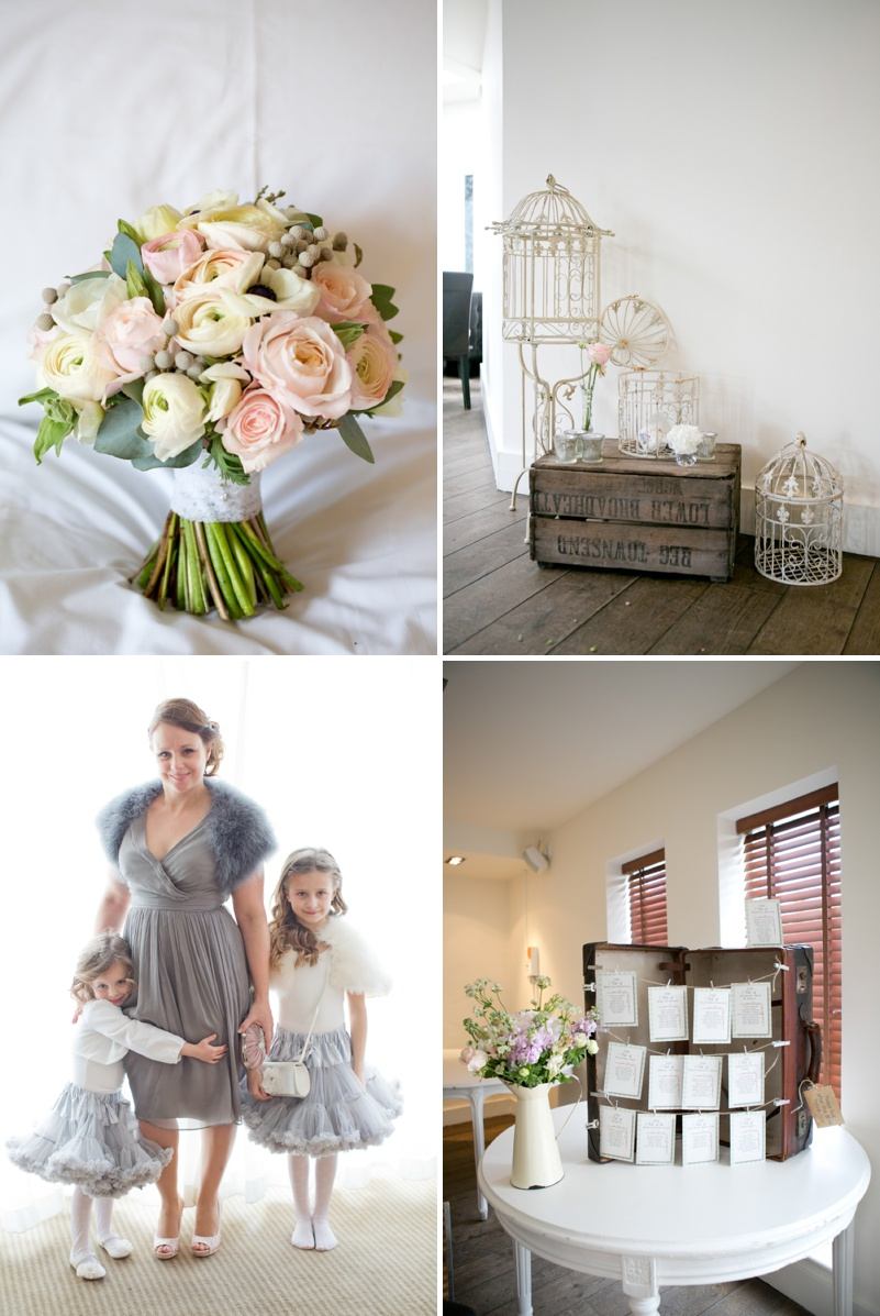 A romantic wedding at Stoke Place with a Maggie Sottero dress and sparkly Jimmy Choo shoes with cherry blossom and rose bouquets._0007