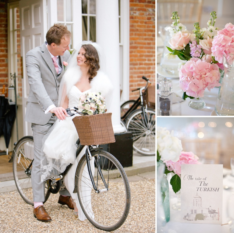 A romantic wedding at Stoke Place with a Maggie Sottero dress and sparkly Jimmy Choo shoes with cherry blossom and rose bouquets._0012