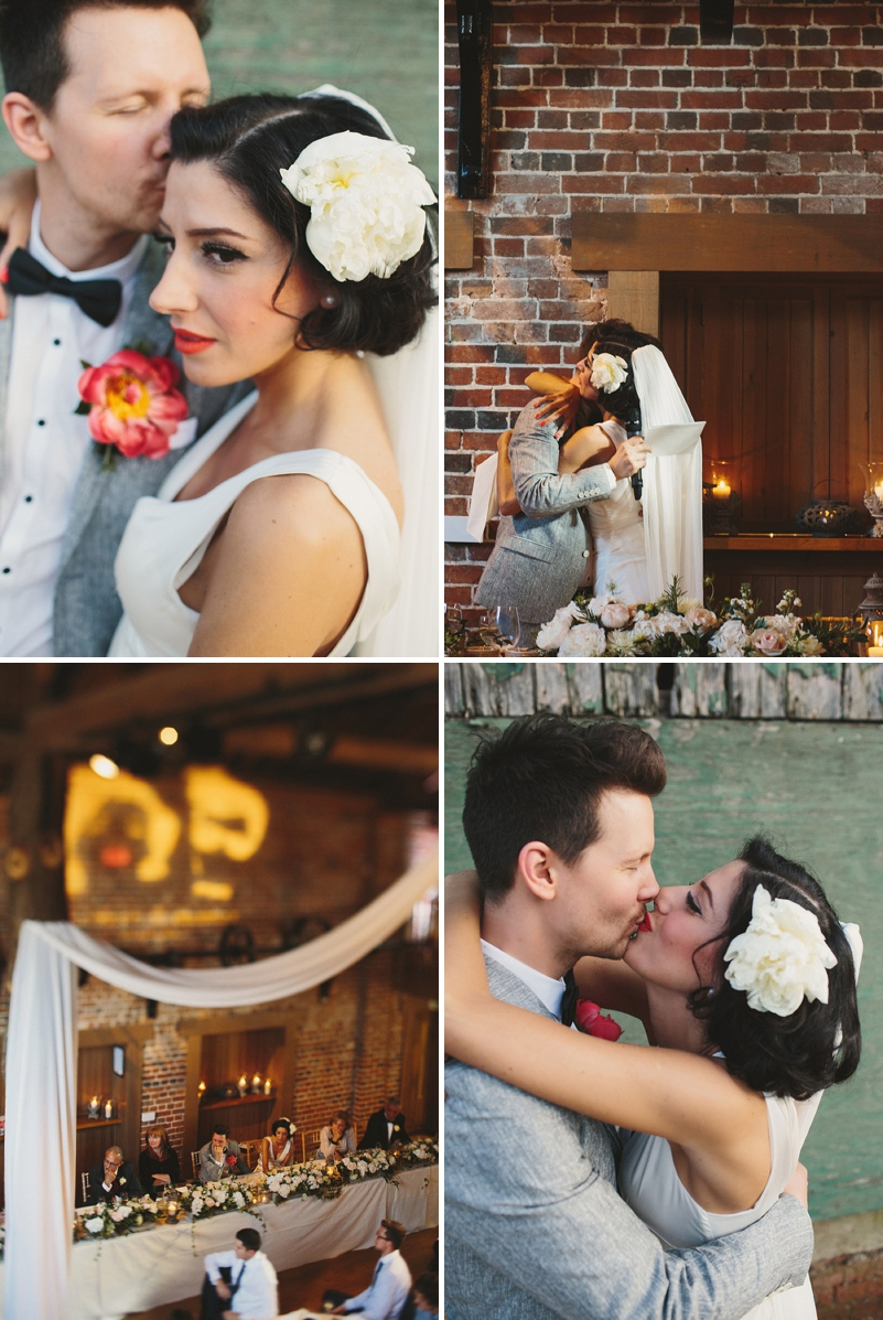 A Rock N Roll wedding at Gaynes Park Barns with a Mae Belle and Bunty bridal gown_0173
