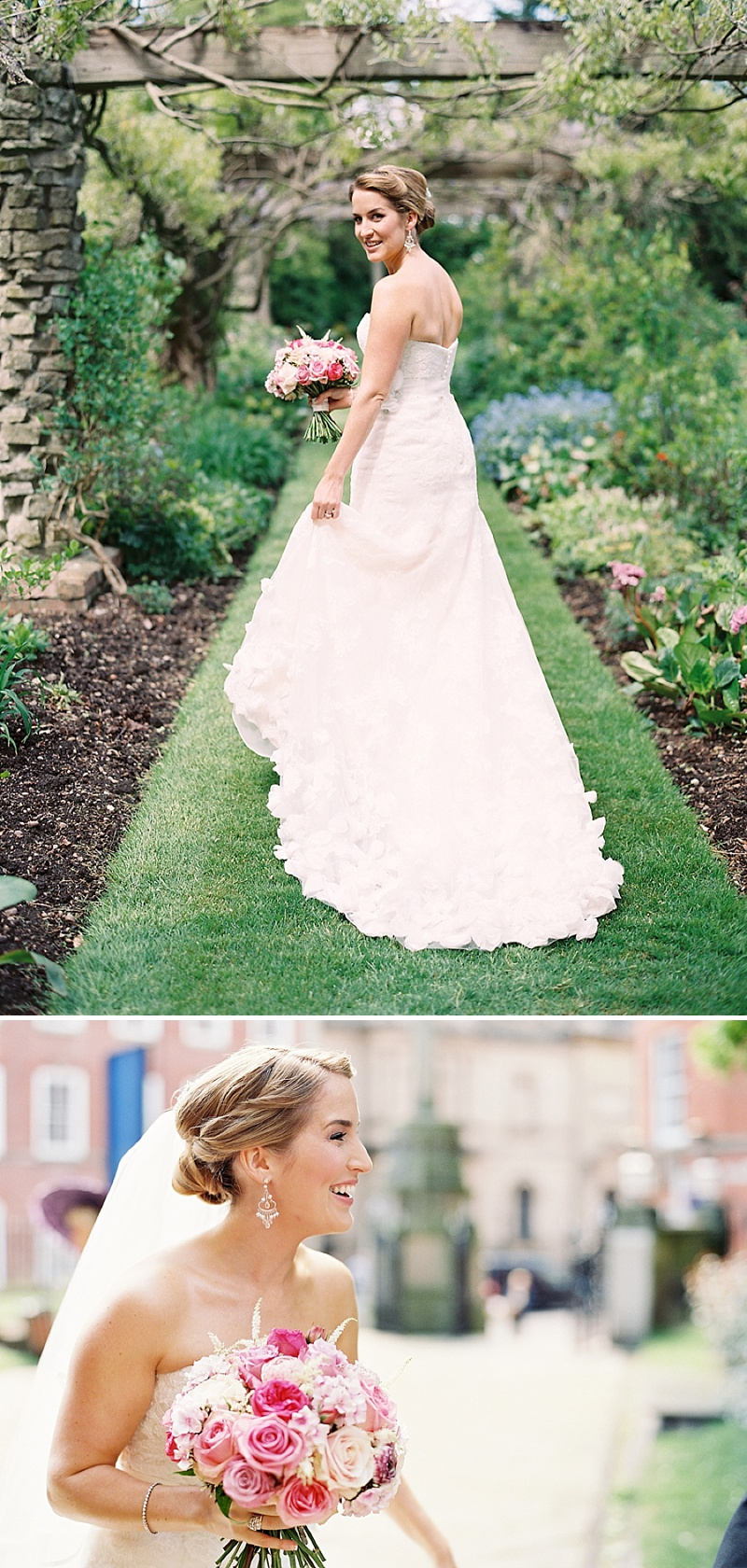 A Spring Themed Wedding at Swancar Farm, Nottinghamshire, Bride in Fairy by Enzoani with No 1 by Jenny Packham shoes, images by Depict Photography_0007