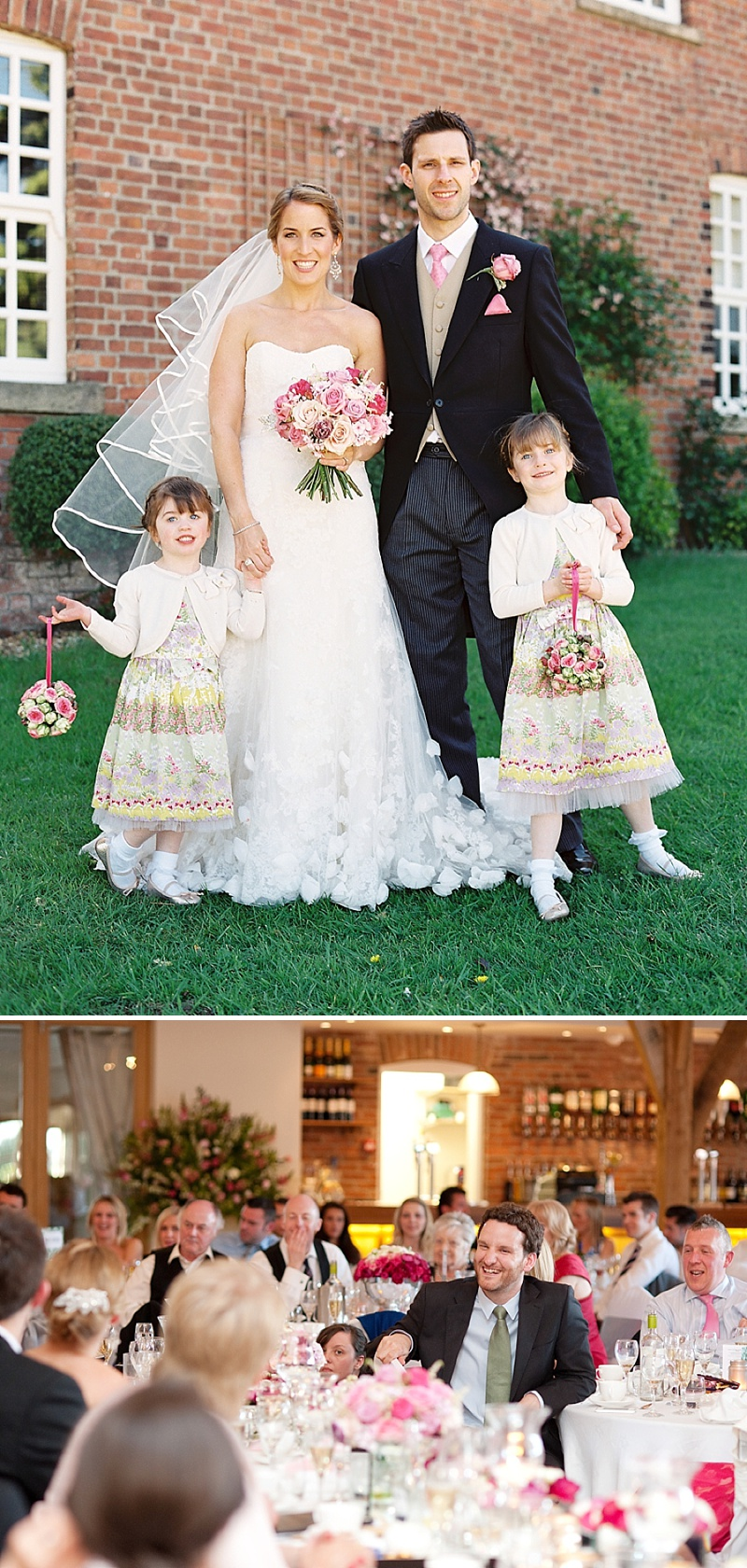 A Spring Themed Wedding at Swancar Farm, Nottinghamshire, Bride in Fairy by Enzoani with No 1 by Jenny Packham shoes, images by Depict Photography_0018