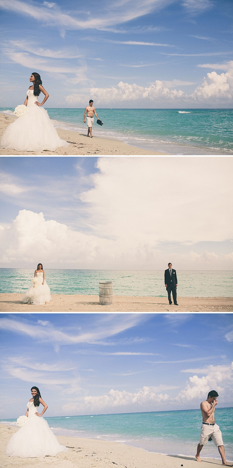 A UK destination wedding in Miami, Florida USA with a gold theme, black tie dress code and Pronovias wedding dress_0007