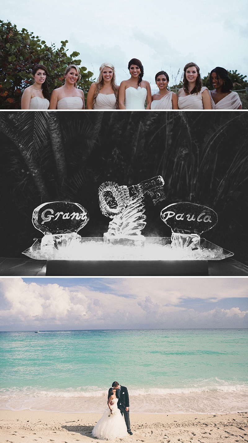 A UK destination wedding in Miami, Florida USA with a gold theme, black tie dress code and Pronovias wedding dress_0010