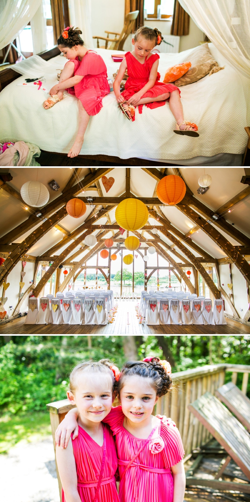 A modern bright colourful wedding at Sanburn Hall York with a bride designed dress_0184