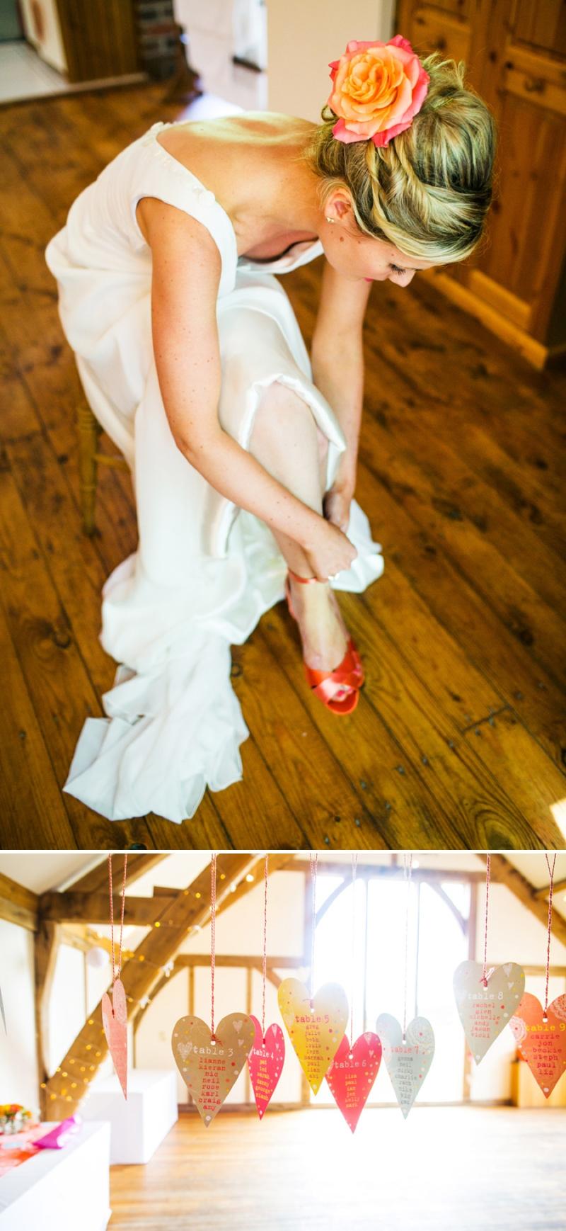 A modern bright colourful wedding at Sanburn Hall York with a bride designed dress_0185