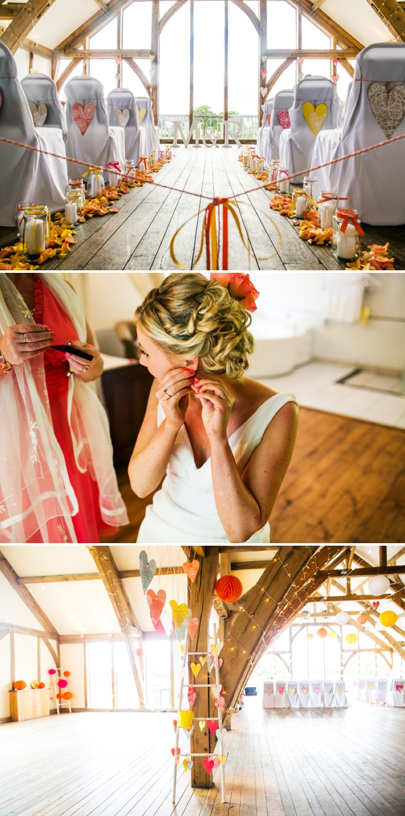 A modern bright colourful wedding at Sanburn Hall York with a bride designed dress_0186