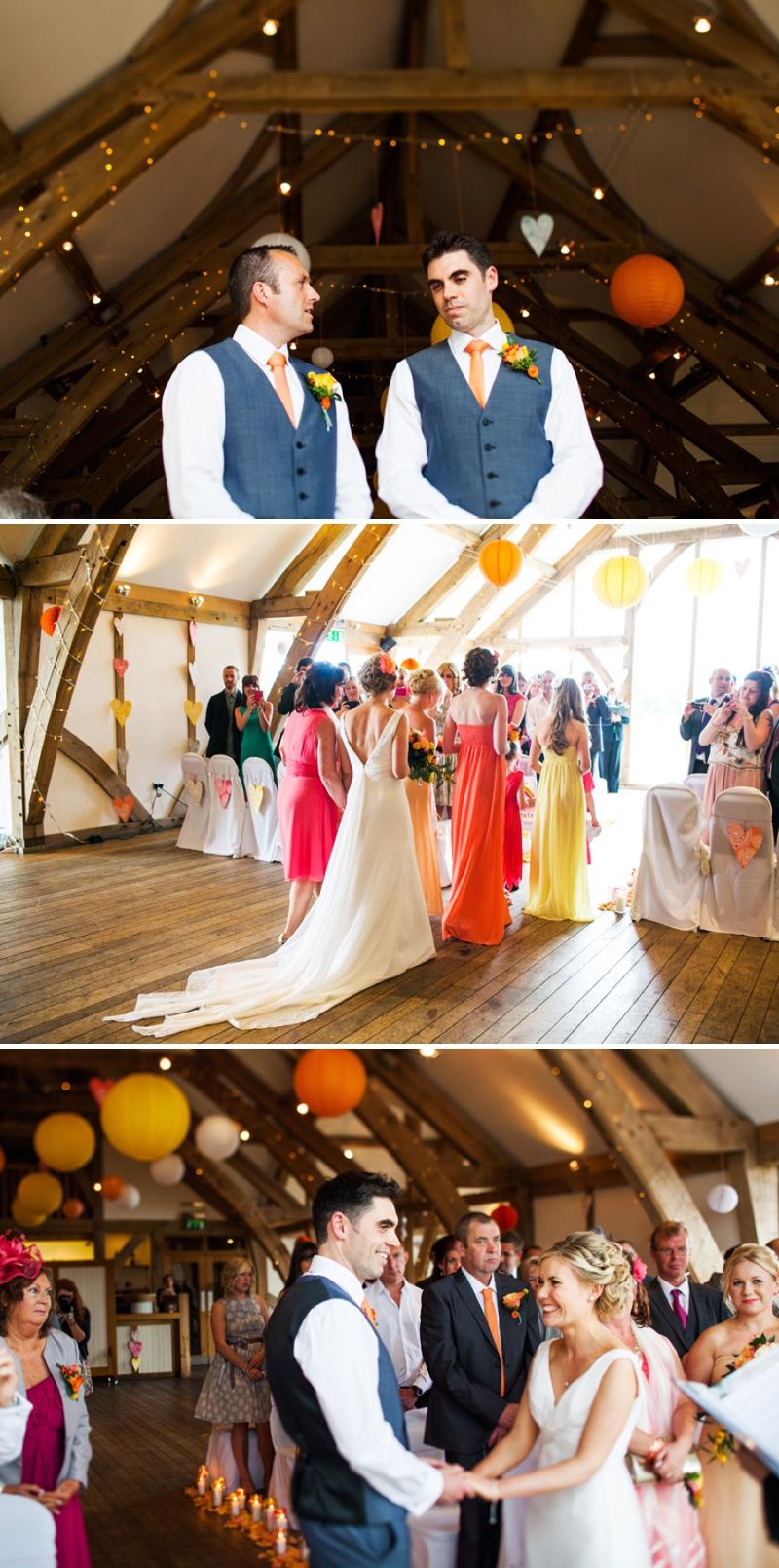 A modern bright colourful wedding at Sanburn Hall York with a bride designed dress_0191