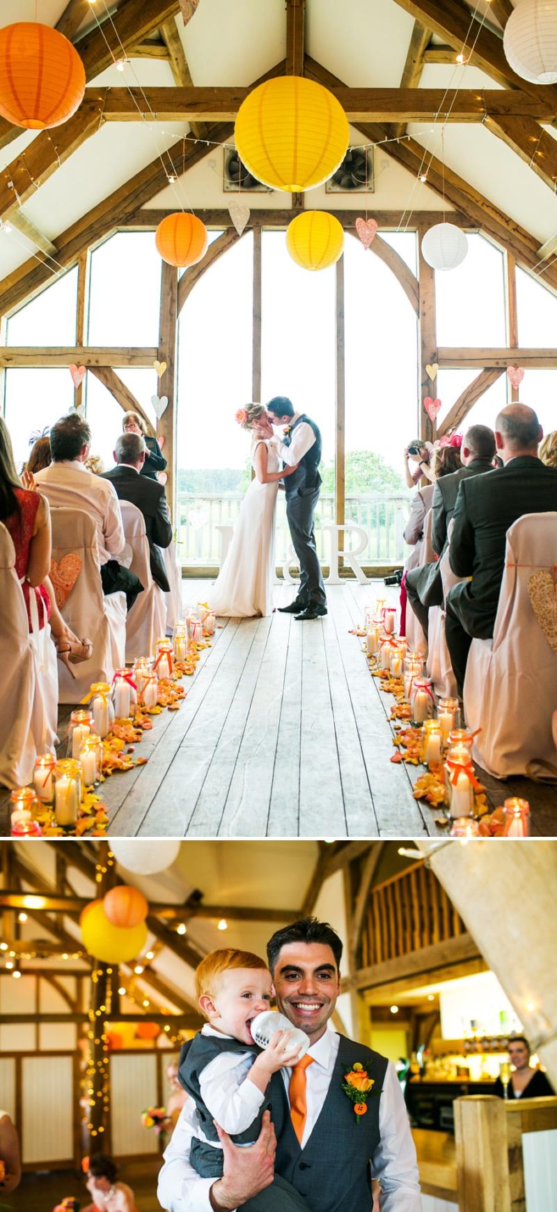A modern bright colourful wedding at Sanburn Hall York with a bride designed dress_0192
