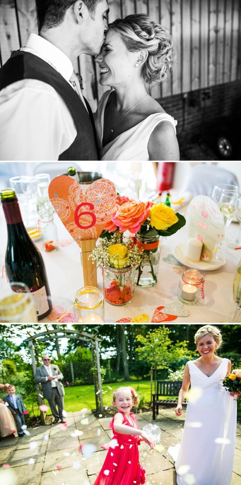 A modern bright colourful wedding at Sanburn Hall York with a bride designed dress_0193