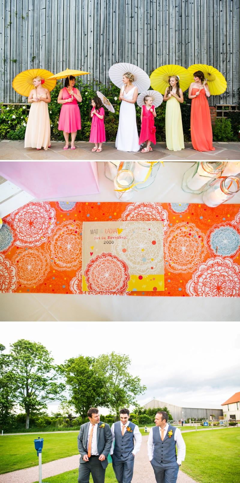 A modern bright colourful wedding at Sanburn Hall York with a bride designed dress_0196