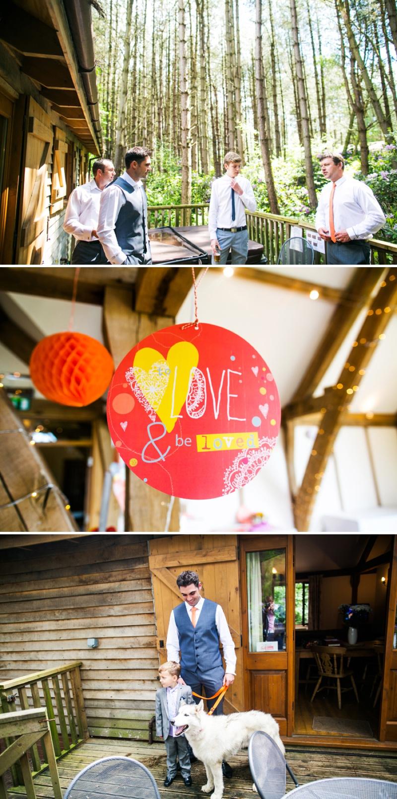 A modern bright colourful wedding at Sanburn Hall York with a bride designed dress_0200